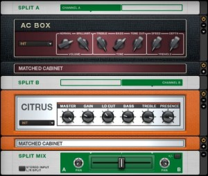 "Native Instruments ""Splitter"" tool in Guitar Rig."